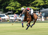 polo action shot of Ludovic Pailloncy for H B Polo