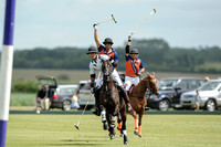 polo action between La Indiana and Thai Polo, Bathurst Cup, Cirencester Park