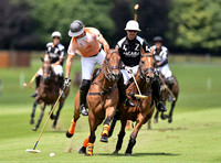 Gols Cup polo action between Zacara and Apes Hill