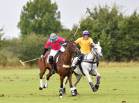 Chairmans Cup final polo action between Coxwell and Foxcote