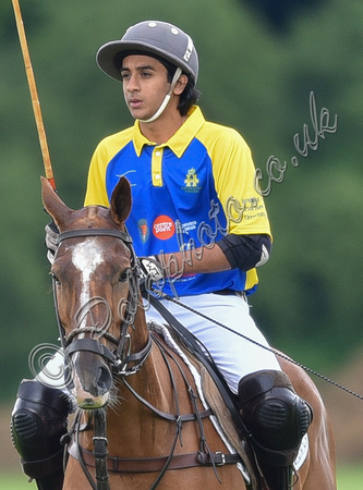 HH The Maharaja of Jaipur playing polo